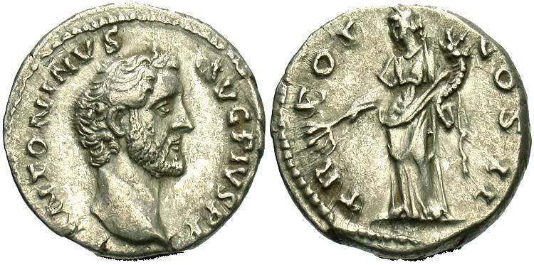 Стародавня монета 1 денарій римська імперія (27bc-395) срібл.