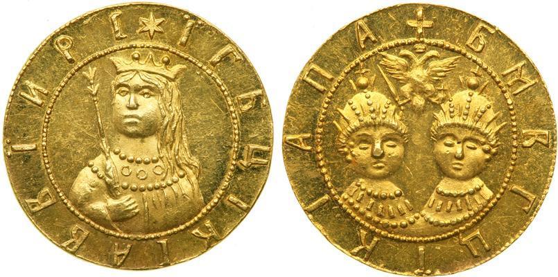 Монета 1 дукат царство русское (1547-1721) золото 1682-1689 .