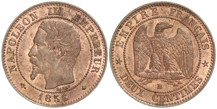 2 Centime 1856 Second French Empire (1852-1870) Copper