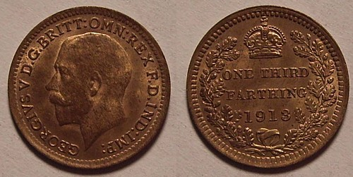 1 3 farthing 1913 united kingdom of great britain and ireland 1801