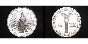 Цены на монету: 1 доллар сша (1776 - ) серебро 1989 с ценами.