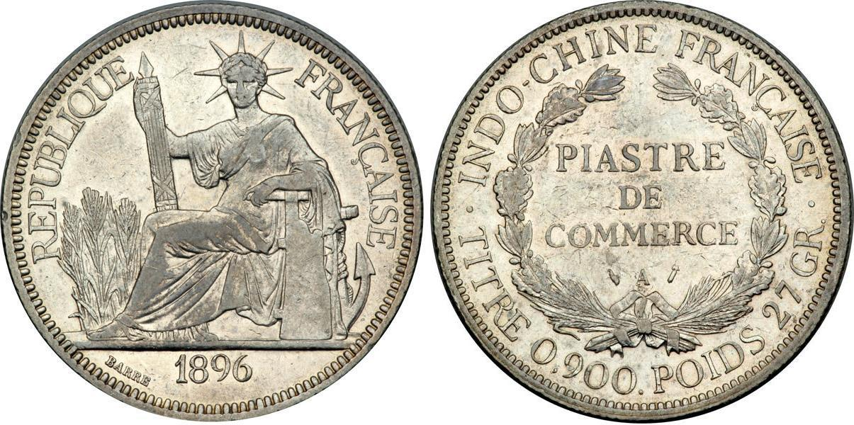 1 Piastre 1896 - 1913 French Indochina (1887-1954) Silver