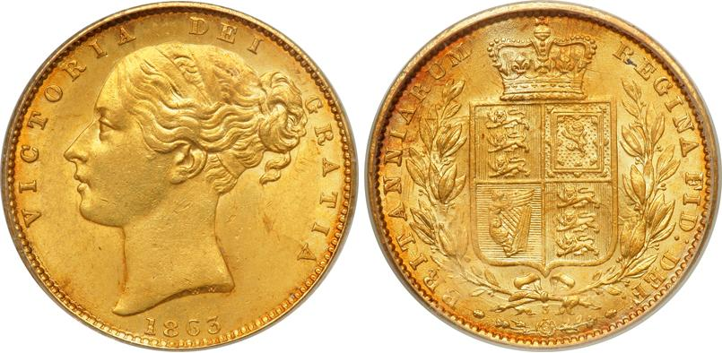 1 Sovereign United Kingdom Of Great Britain And Ireland 1801 1922 Gold Victoria