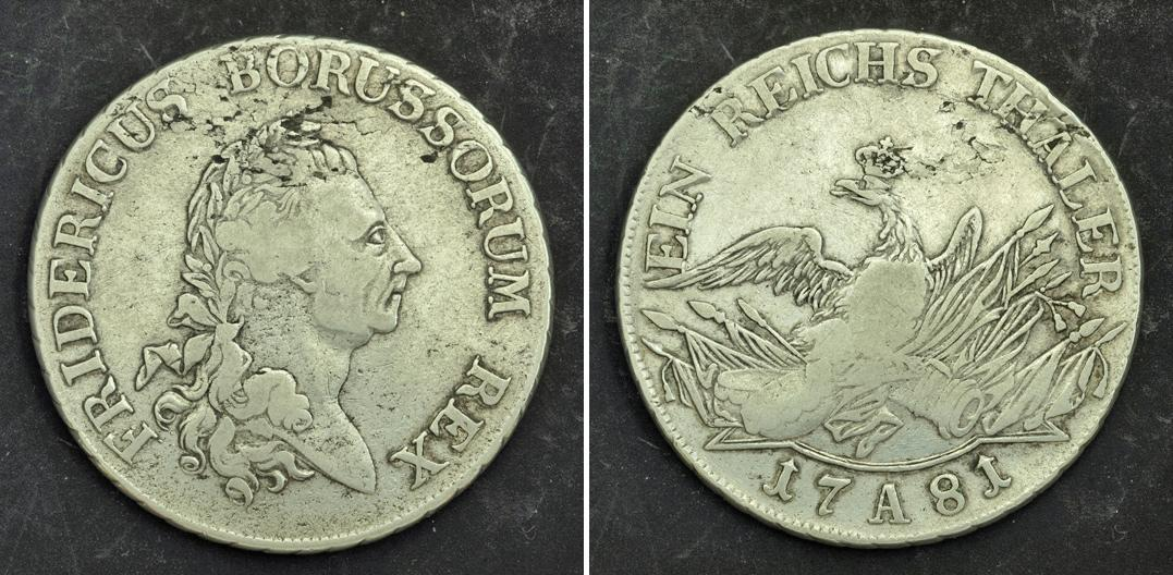 Urcaquary 1781 Prussia Frederick Ii Quotthe Gr