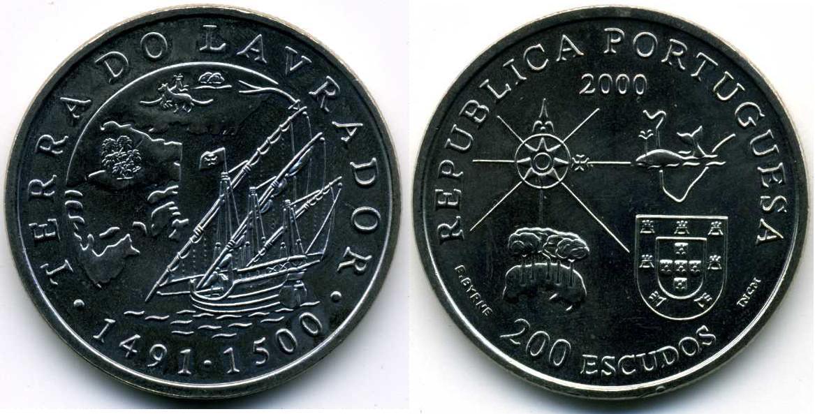 200 Escudo 2000 Portuguese Republic (1975 - ) Copper/Nickel