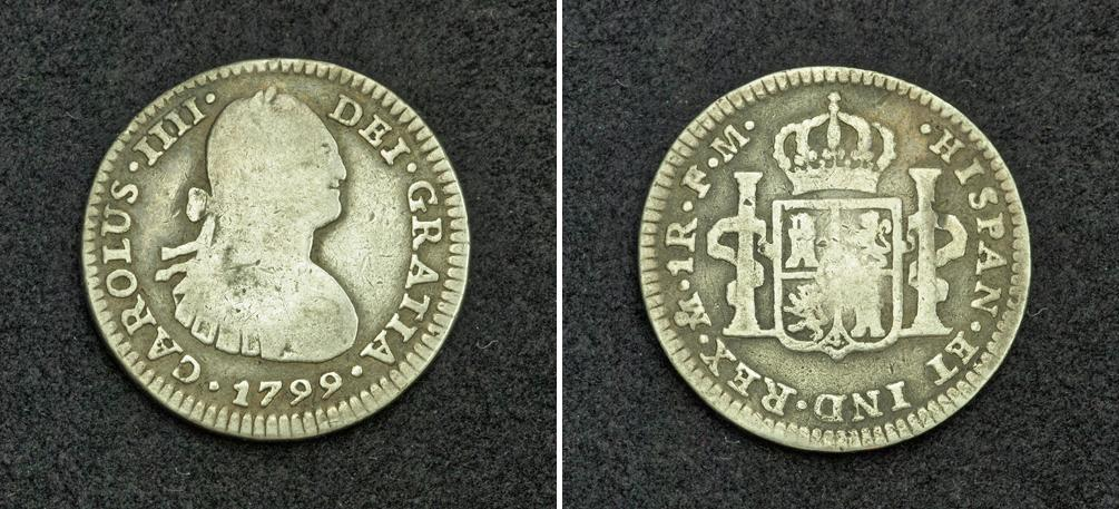 71a6a92222cb 1 Real Spanish Mexico   Kingdom of New Spain (1519 - 1821) Silver Charles