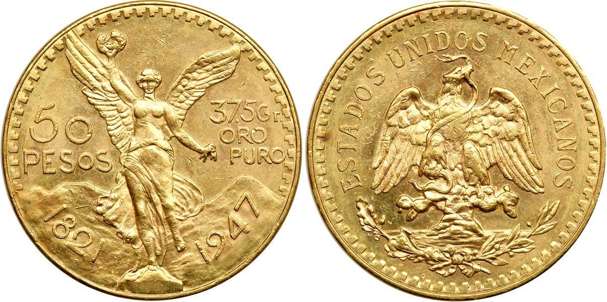 50 Peso 1921 United Mexican States (1867 - ) Gold | Prices