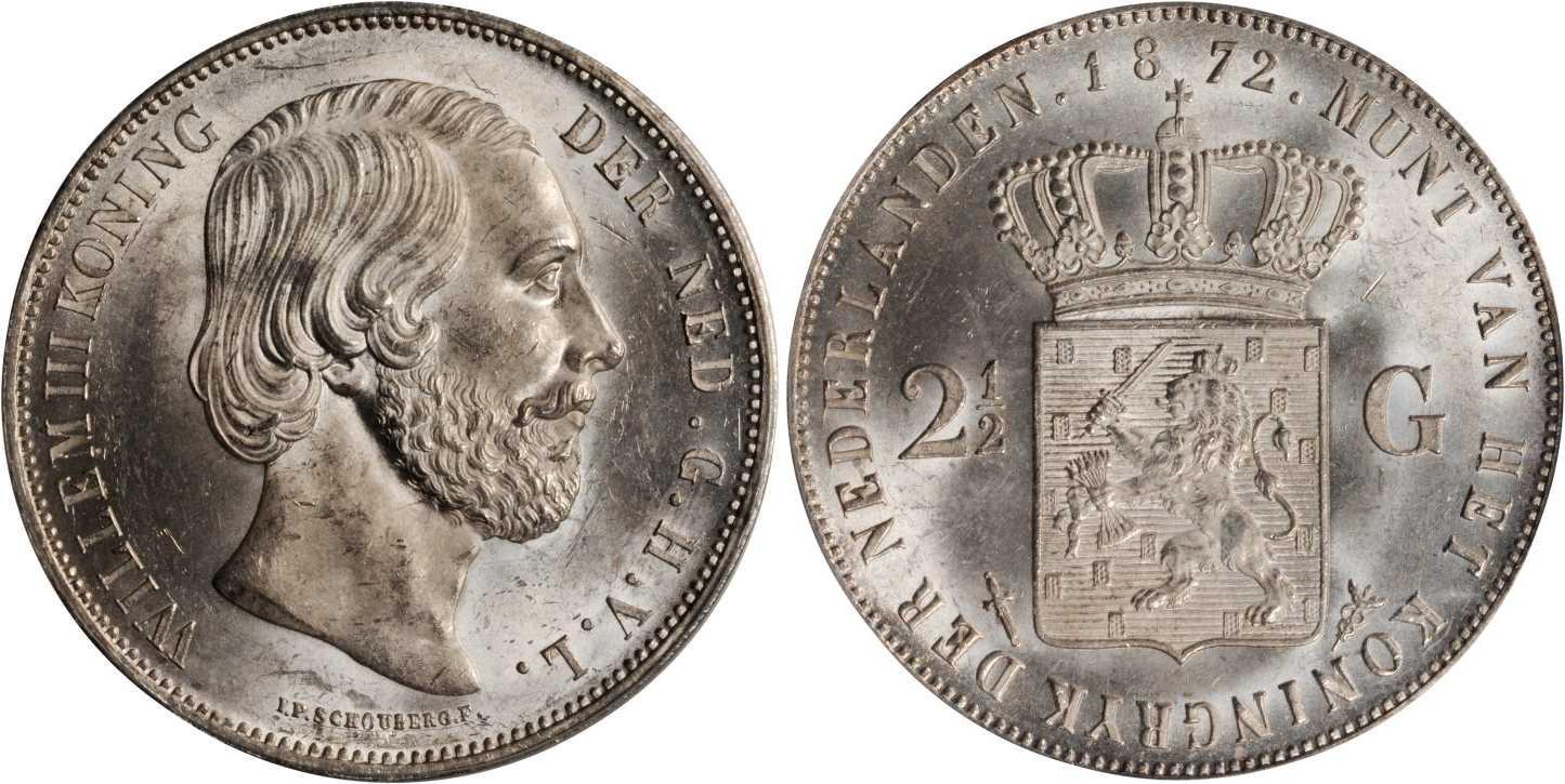 Münze 2 12 Gulden Königreich Der Niederlande 1815 Silber 1852