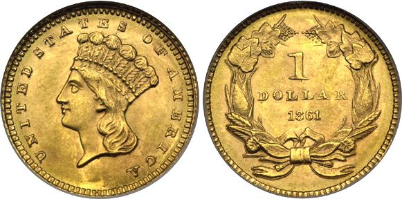 1 Dollar 1856 1889 Usa 1776 Gold