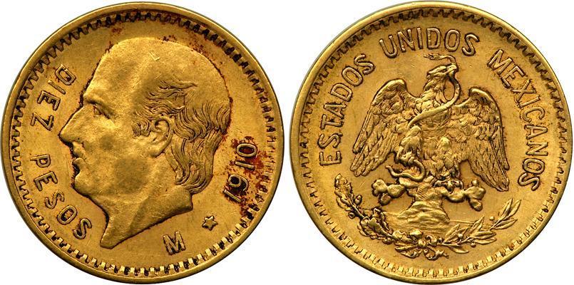 10 Peso 1905 1959 United Mexican