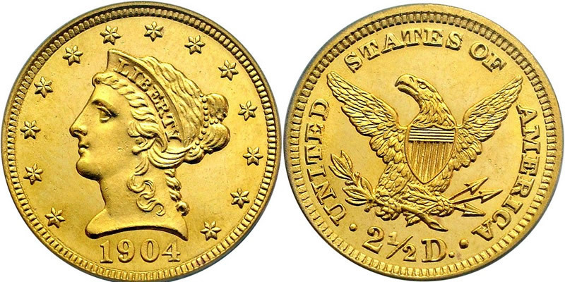 2 5 Dollar Usa 1776 Gold