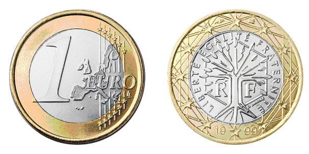 1 Euro 1999 French Fifth Republic 1958 Bimetal Prices Amp Values