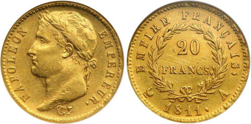 20 Franc 1815 First French Empire 1804