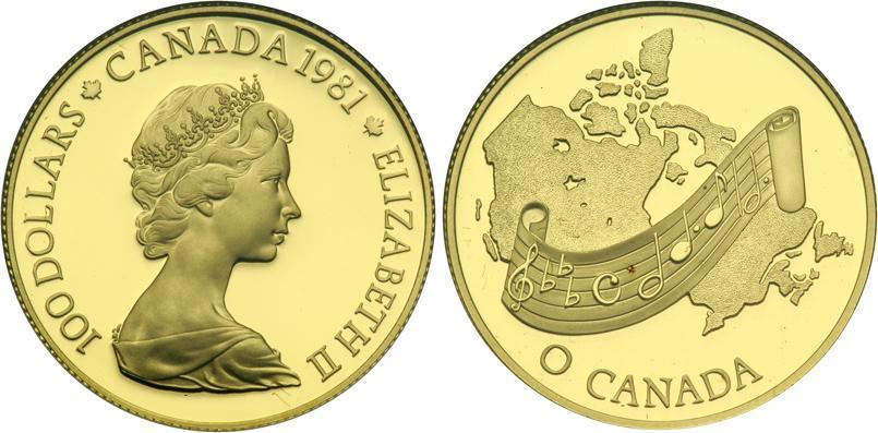 100 Dollar Canada Gold Elizabeth Ii 1926