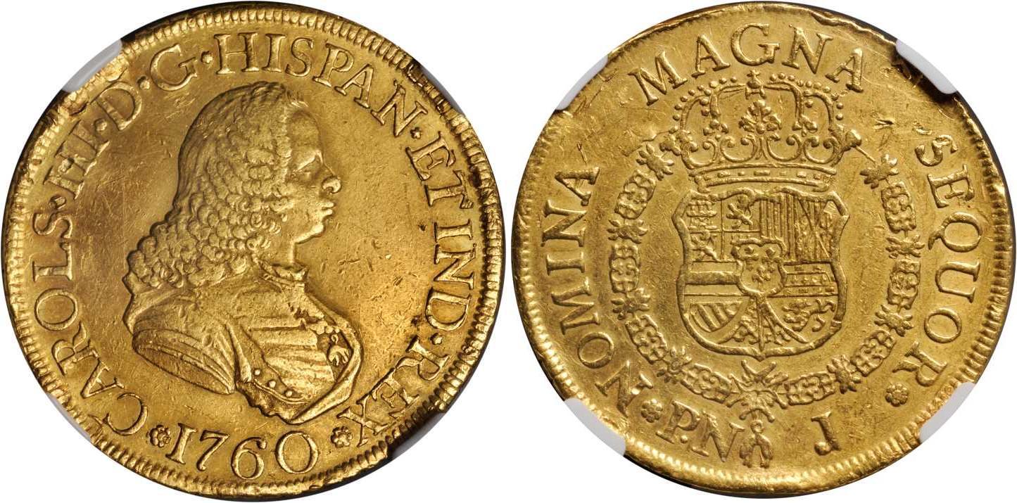 moneda 8 escudo virreinato de nueva granada  1717