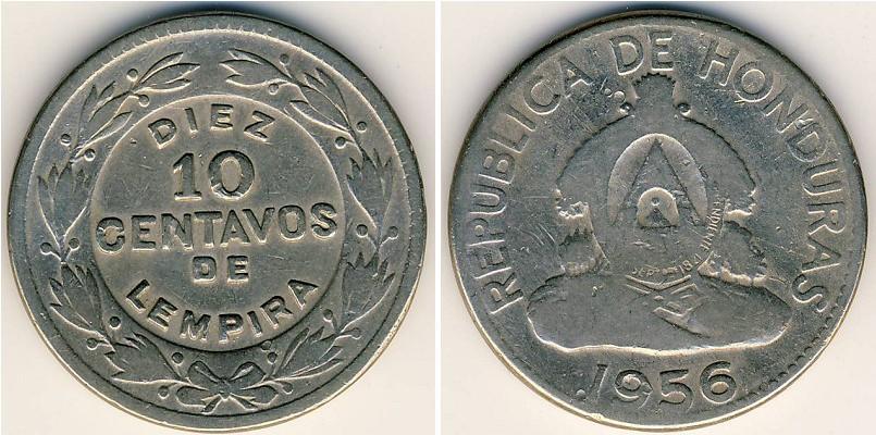 10 Centavo Honduras Níquel Cobre
