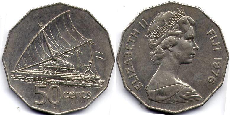 50 Cent Fiji Elizabeth Ii 1926
