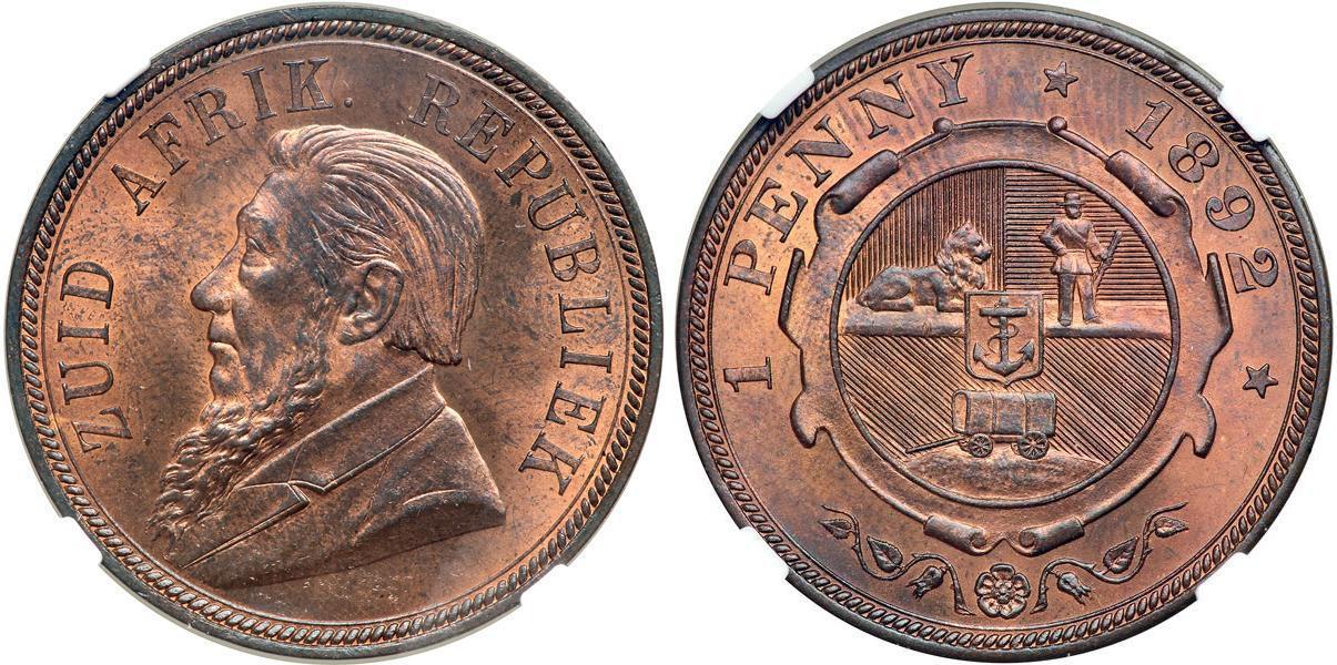 1 Penny 1898 South Africa Bronze Paul Kruger (1825 - 1904 ...