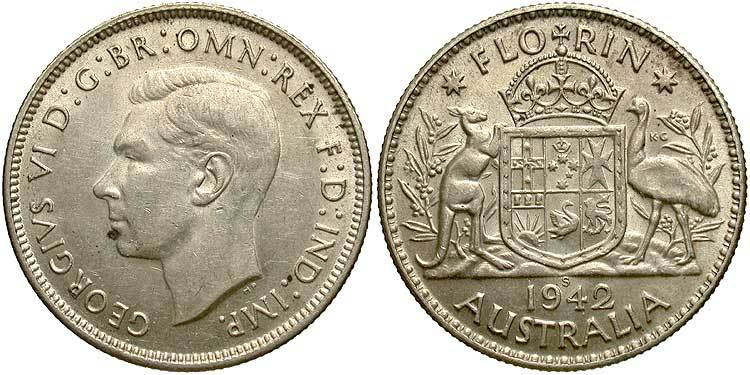 Australia 1 Florin 1938 Unc Münzen International
