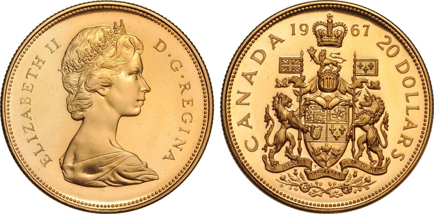 20 Dollar Canada Gold Elizabeth Ii 1926