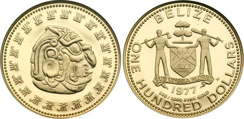 100 Dollar 1977 Belize (1981 - ) Gold | Prices & Values