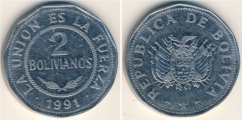 Image result for moneda boliviano