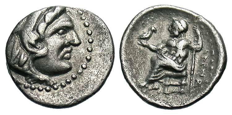1 Obol 336bc 323bc Macedonian Kingdom 800bc 146bc Silver
