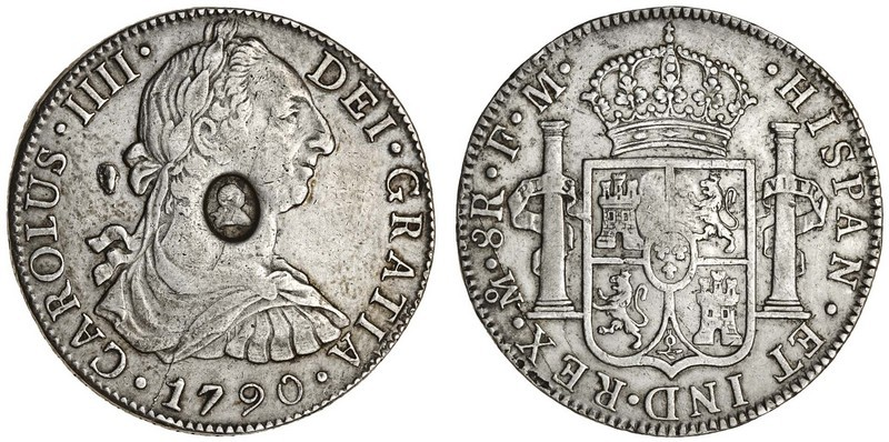 1 Dollar 8 Real United Kingdom Of Great Britain And Ireland 1801 1922