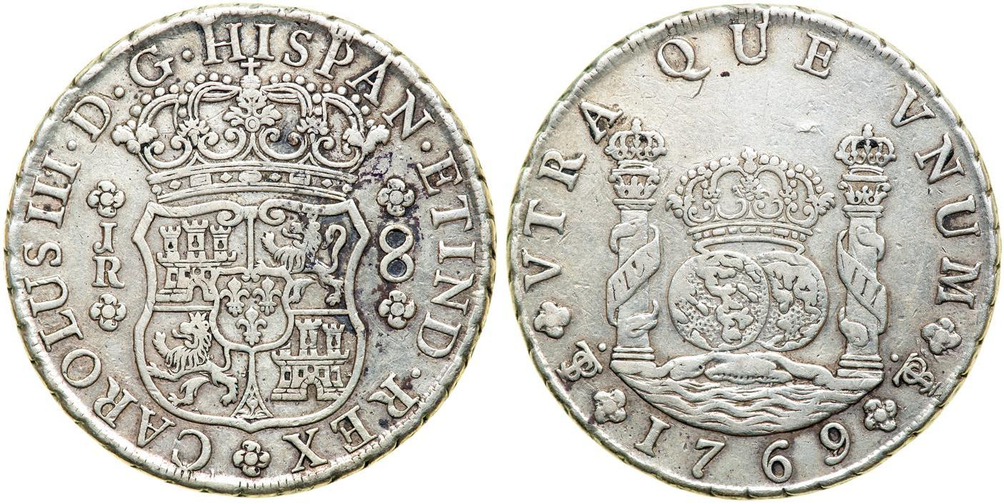 Münze 8 Real Bolivien Vizekönigreich Peru 1542 1824 Silber