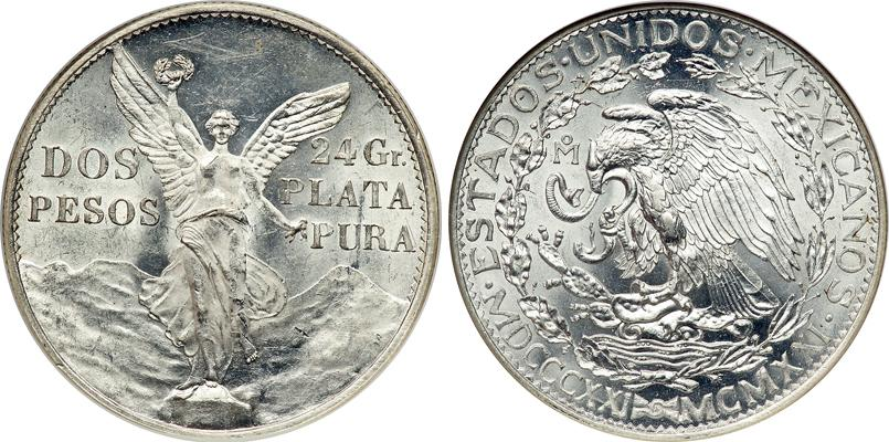 2 Peso 1921 United Mexican States (1867 - ) Silver | Prices