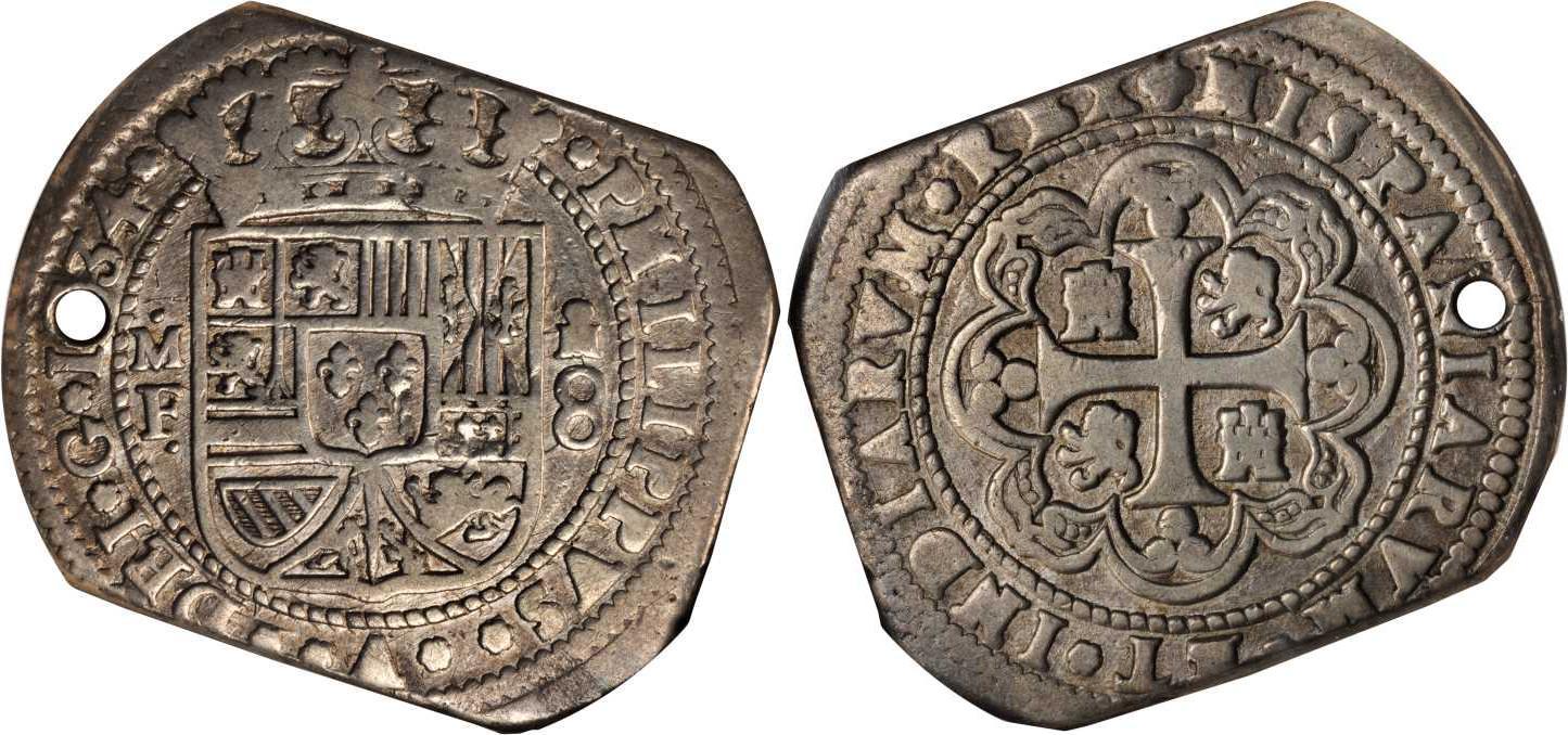Münze 8 Real Vizekönigreich Neuspanien 1519 1821 Silber 1734
