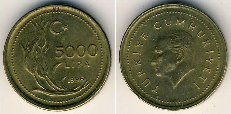 5000 Lira Turkey 1923
