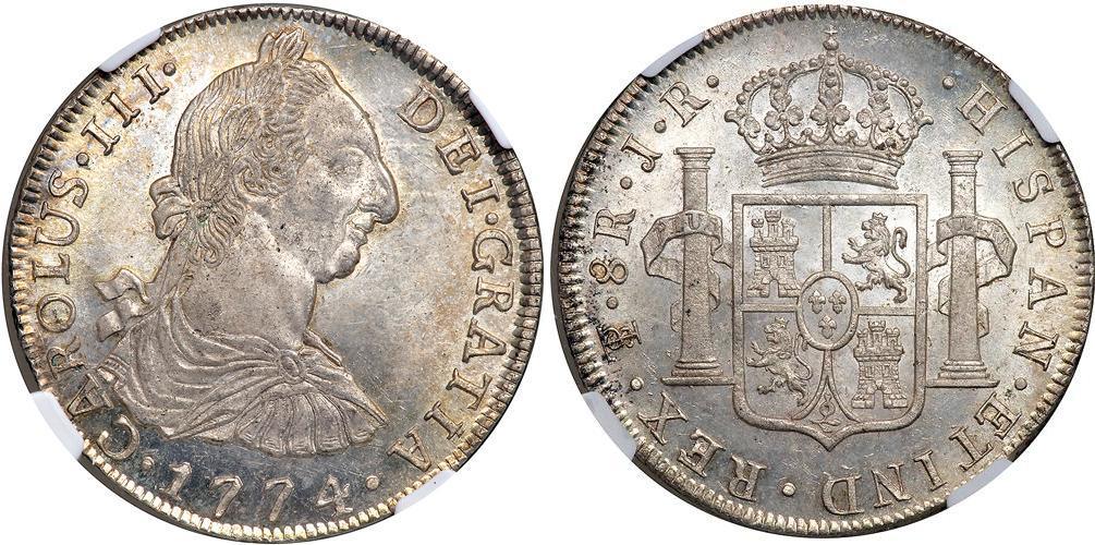 foto de 8 Real 1788 Bolivia Silver Charles III of Spain (1716 -1788 ...