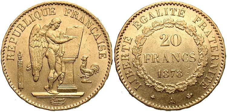 20 Franc French Third Republic 1870 1940 Gold