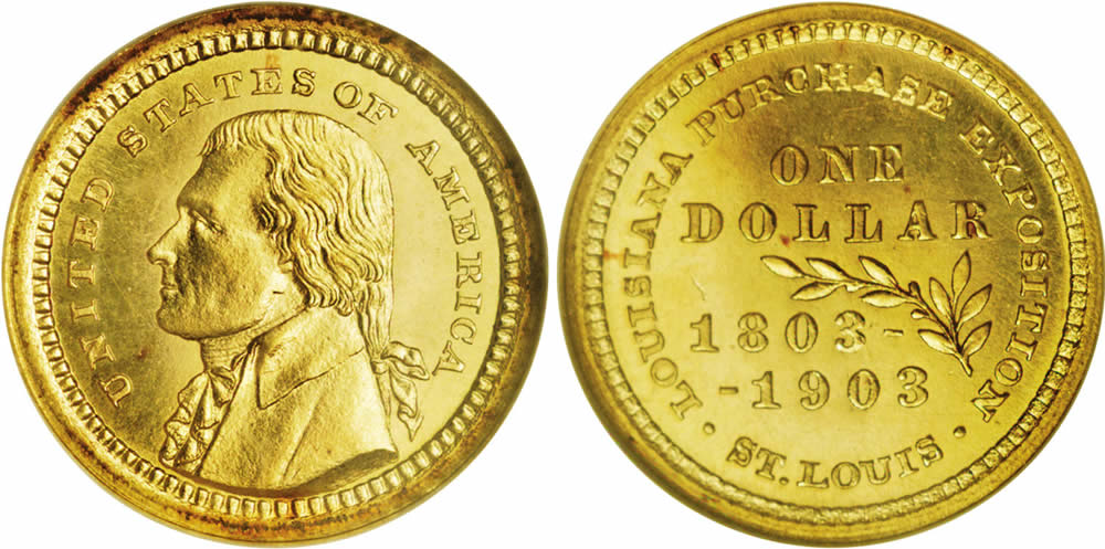 1 Dollar Usa 1776 Gold Thomas Jefferson 1743 1826