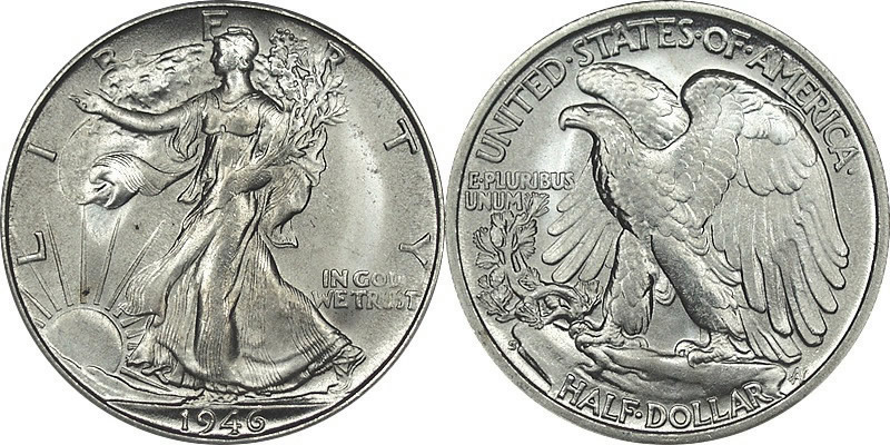 1 2 Dollar 1916 1947 Usa 1776 Silver Prices Amp Values Km 142