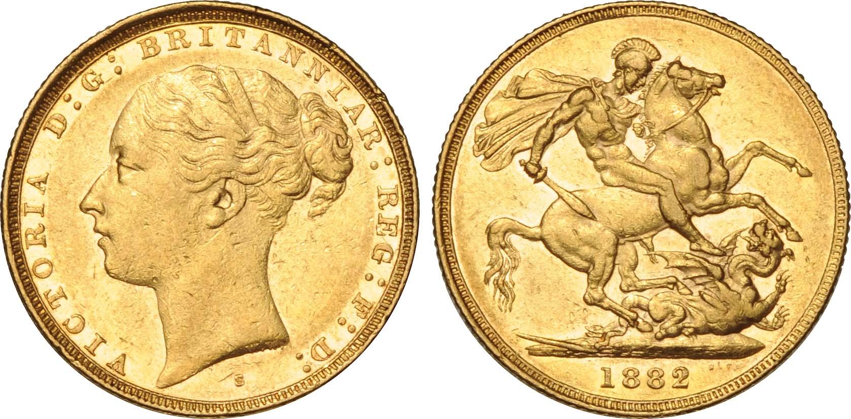 1 Sovereign Australia 1788 1939 Gold Victoria 1819 1901