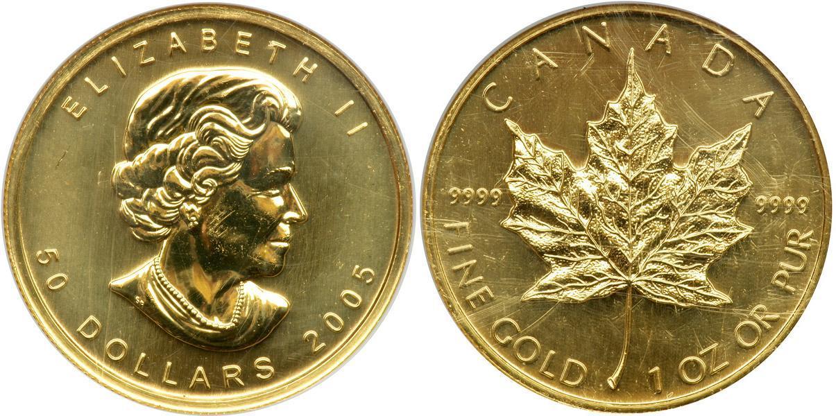 50 Dollar 2005 Canada Gold Elizabeth II (1926-)   Prices