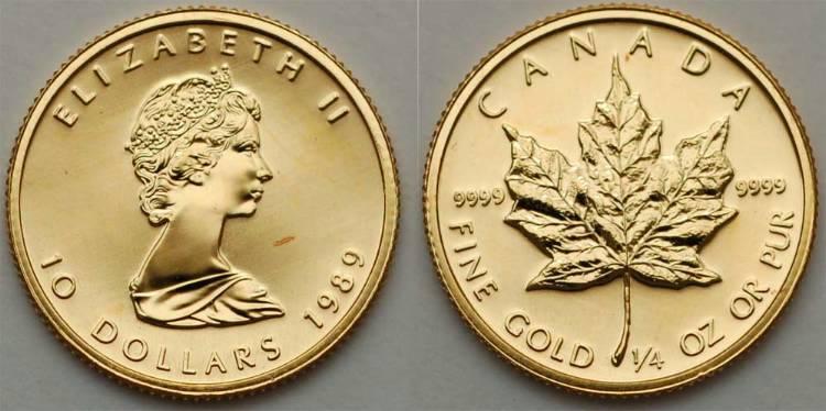 10 Dollar Canada Gold Elizabeth Ii 1926