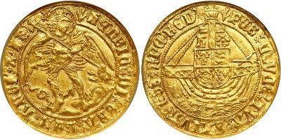 Монета 1 Ангел Королевство Англия Золото 1485-1509 Генрих VII